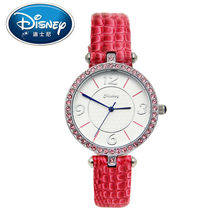 Disney Kids Watch Women Watch Mickey Mouse Casual Fashion Cute Quartz Wristwatches Girls Boys Leather clock