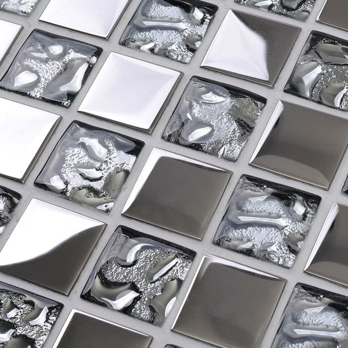Silver Kitchen Plated Backsplash Wall Tile Borders