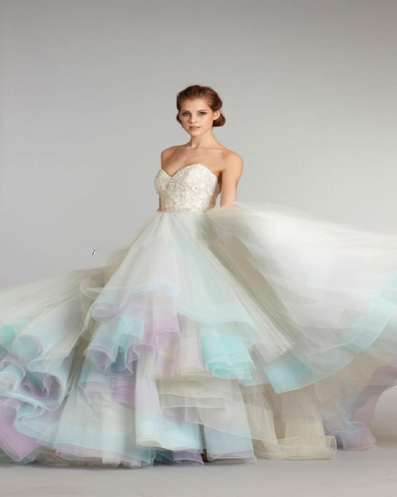 Dress Gowns For Weddings: New Arrival A Line Colorful Wedding Dresses 2016