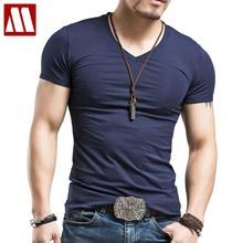 Mens' New Leisure Style Cotton V-Neck Short Sleeves T-Shirt