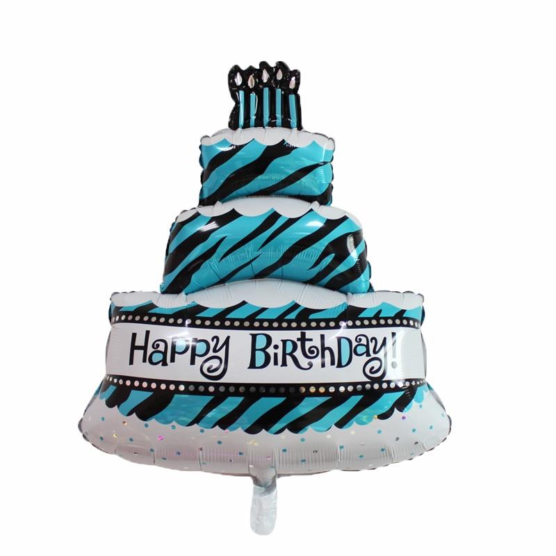 Groovy 100 68Cm Three Layers Birthday Cake Balloons Large Size Aluminum Funny Birthday Cards Online Amentibdeldamsfinfo