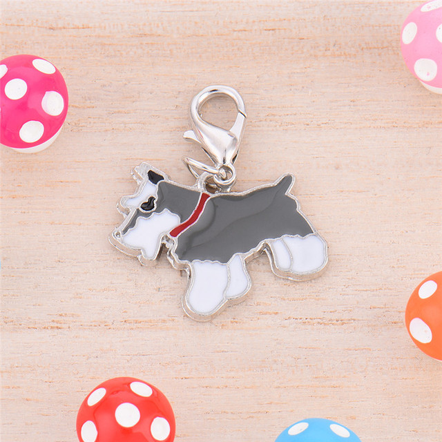 US $0 82 32% OFF|2 6 * 2 1 cm Metal Durable Dog Tag Schnauzer Style Pet  Decorations Key Ornaments not easy to distort and fade-in ID Tags from Home  &