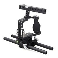 Fotopal Aluminum Alloy DSLR Video Camera Cage Handle Grip Stabilizer Kit for Sony A6000 A6300 A6500 camera