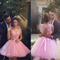 Charming Short Pink Beaded Flowers Homecoming Dress Sweetheart Ball Gown Homecoming Dresses Pretty Party Dresses Gowns HC59