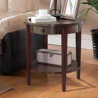 American sofa edge cabinets living room round corner a few round coffee table solid wood European handrail cabinet storage .