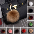 100% Real Raccoon Fur Pom Pom Keychain Ball Handbag Accessories Chain Mixed Colors Big Size Ball Bag Accessories Keychain Fur