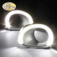 SNCN светодиодный фонарь дневного света для Subaru Outback 2010 2011 2012, автомобильные аксессуары Водонепроницаемый ABS 12 V DRL Противотуманные фары украше