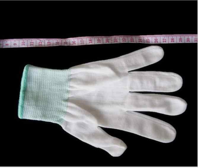 1 paar 13-pin nylon weißen handschuh core staub-freies polyester elektronik fabrik arbeit arbeit versicherung männer und frauen handschuhe