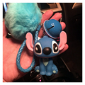 Animal Keychain Lovely Cartoon Toy Doll Keyring Fur Pompons Key Chain Chaveiro Small Bell Porte Clef Pompom Keychain Charm Gifts