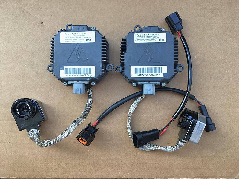 SET (2) Original Used Xenon BALLASTS KIT HID CONTROL UNIT + Wire (new) For Nissan Subaru Impreza WRX STI NZMIC111LBCA000 epman intercooler y pipe hose kit for subaru wrx sti gdb ggb 2 0 00 07 ver 7 9 3pcs ep sbt007