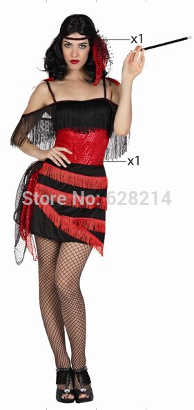 Free shipping - 2016 New Party Clothing Carnival Cosplay Costume For Women Knitted Sexy Dress Costumes Black Color