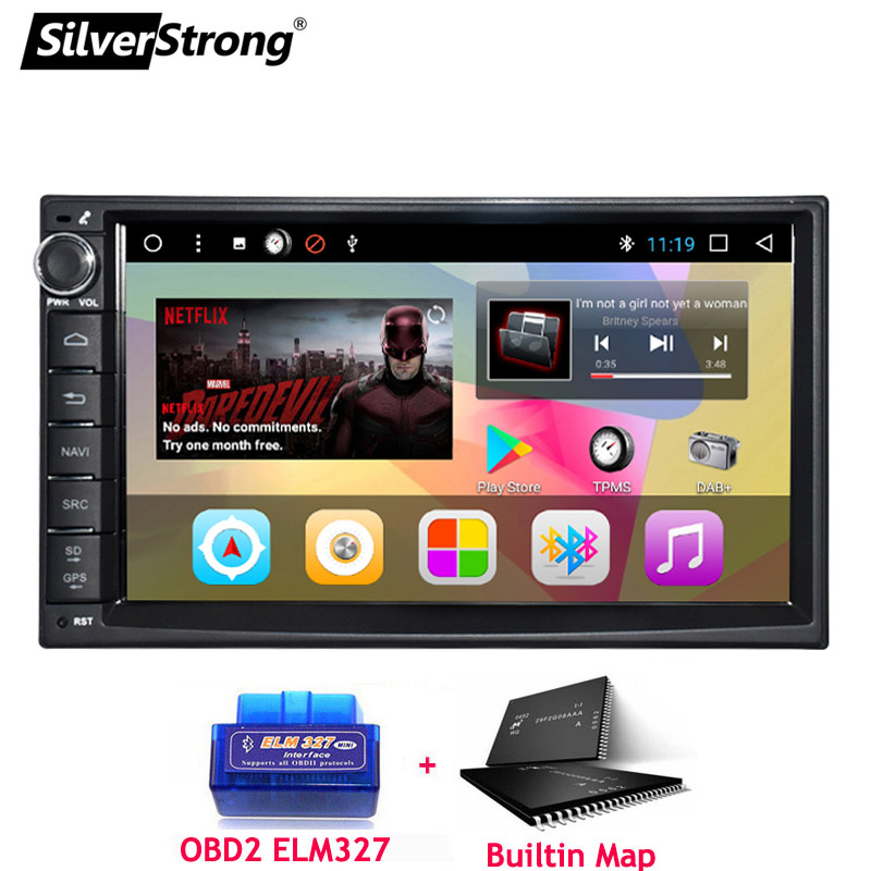 SilverStrong Android8.1 universel 1Din autoradio GPS Auto stéréo LADA GRANTA autoradio magnétophone pour Toyota/Nissan 707DT3 - 3