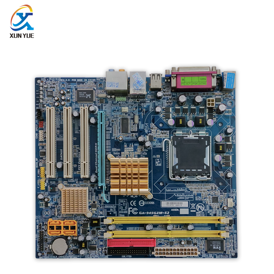 Original Gigabyte GA-945GZM-S2 Desktop Motherboard 945GZM-S2 945GZ Socket LGA 775 DDR2 Micro-ATX 100% Fully Test original motherboard ga g41mt s2 lga 775 ddr3 g41mt s2 8gb fully integrated g41 free shipping