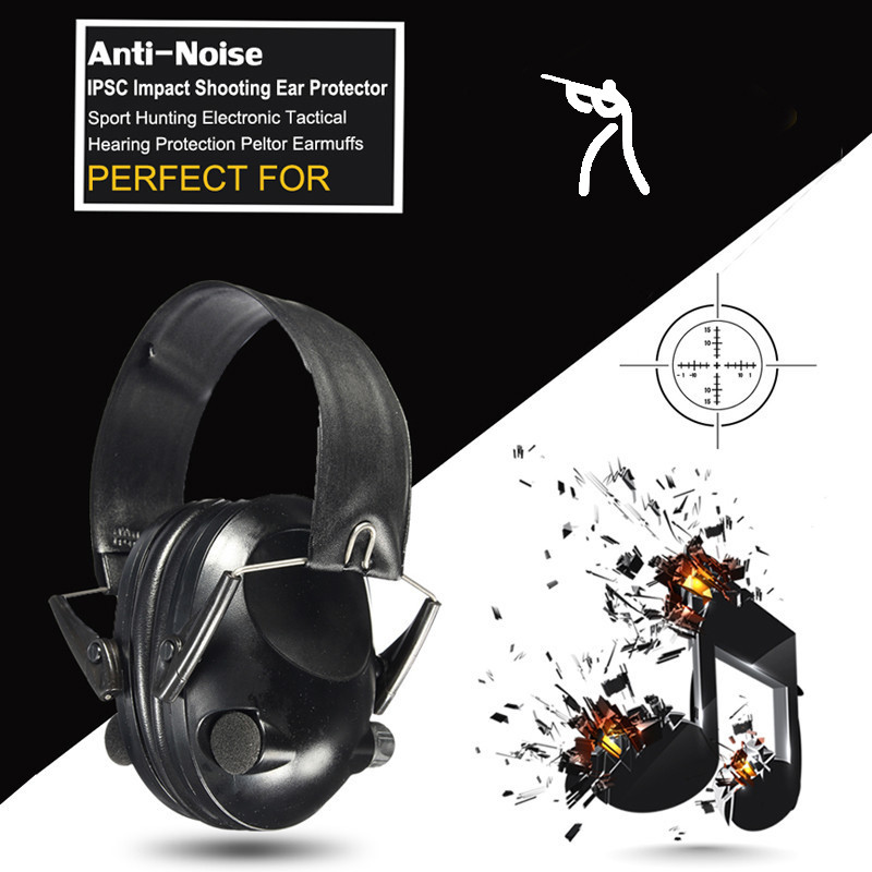 Anti-noise Impact Sport Hunting Electronic Tactical Earmuff Shooting Ear Protectors Hearing Protection Peltor Earmuffs купить