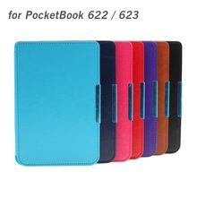 Free Shipping Fashion Durable PU Leather Protective Case Cover for PocketBook 622/623 ebook with Magnet Lock High Quality(China)