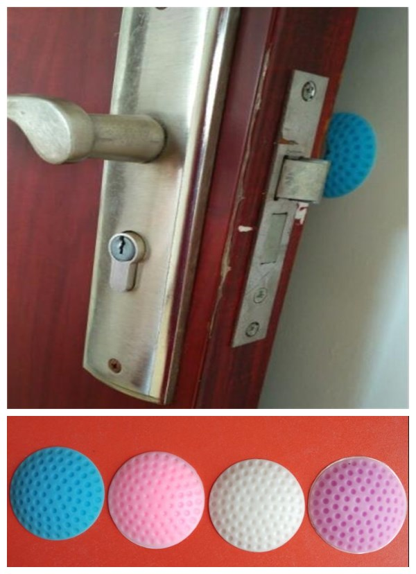 1pcs Door Handles Collision Avoidance  Furniture Impact Protection Circular Plastic Wall Stickers The Handle  Furniture Fittings