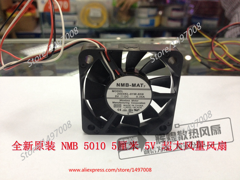 NMB-MAT 2004KL-01W-B59, B00 DC 5V 0.35A, 50x50x10mm Server Square fan юбка msgm msgm ms718ewccd72