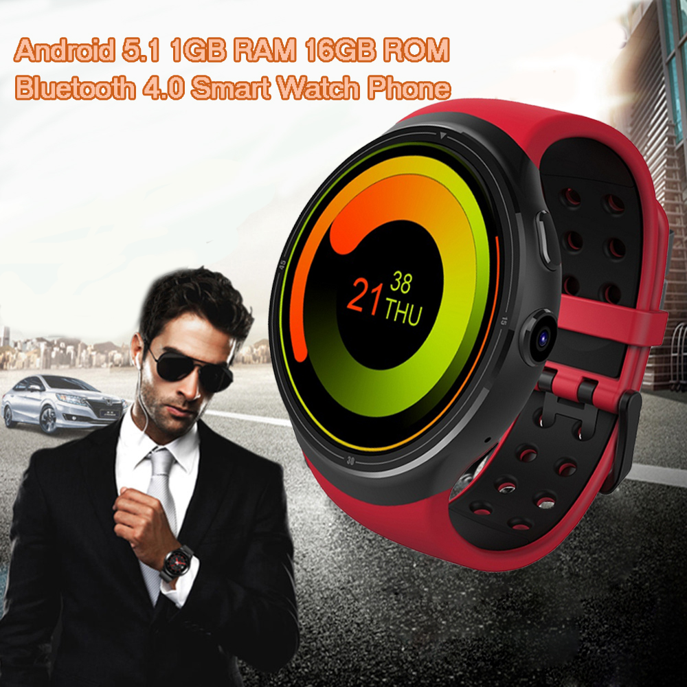 imágenes para Zeblaze THOR 3G Reloj Teléfono Inteligente Android 5.1 1.4 pulgadas Quad Core 1.3 GHz 1 GB 16 GB Bluetooth GPS WIFI Reloj Inteligente para Andriod