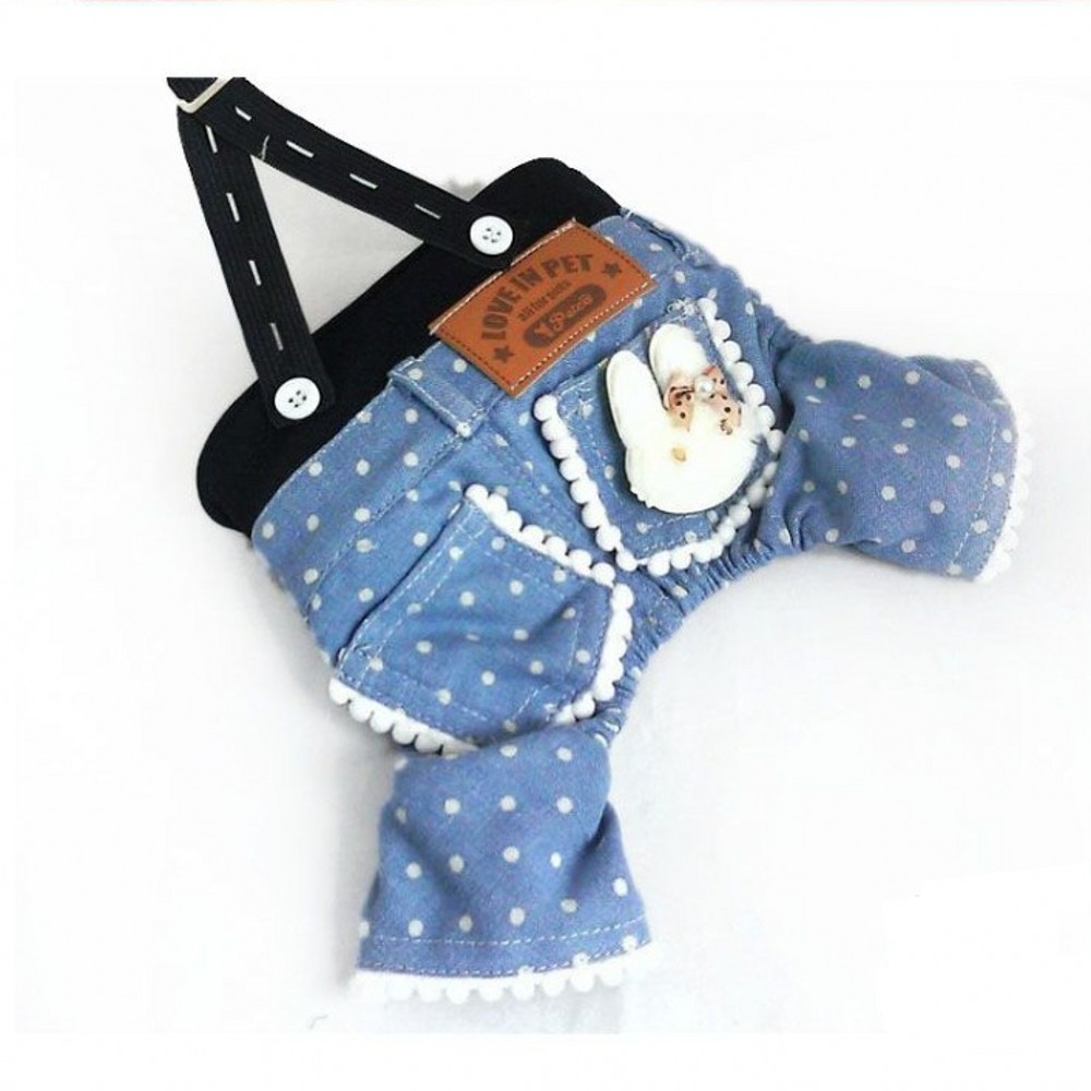 Cute Dog Pants Wave Point Small Rabbit Pet Dog Clothes for