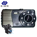 E-ACE Aut Dvr Camera Super Night Vision Dual Lens With LDWS ADAS Rear View Support Front Car Distance Warning Full HD Dash am