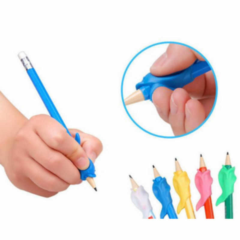 5Pcs/lot Silicone Dolphin Fish Wobi Child Children Pencil Students Hold A Pen Writing Posture Correction With Wobi Posture Toys