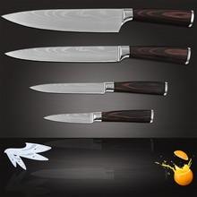 3,5 zoll schäl 5 zoll utility 8 zoll slicing chef edelstahl küchenmesser Damaskus muster kochen werkzeuge messer