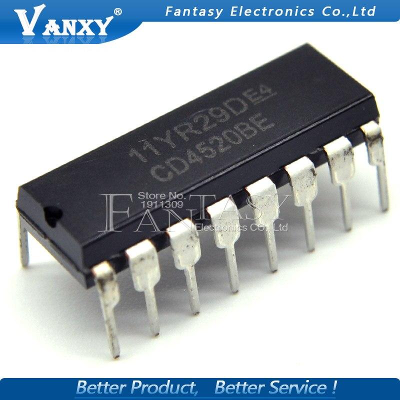 1-10pcs CD4520 BE CMOS IC