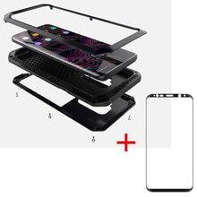 AKASO тяжелые металлические чехол для телефона противоударный чехол + темпе стекло для samsung S9 S9 плюс S5 S6 S6 край S7 S8 S8plus Note 8 case