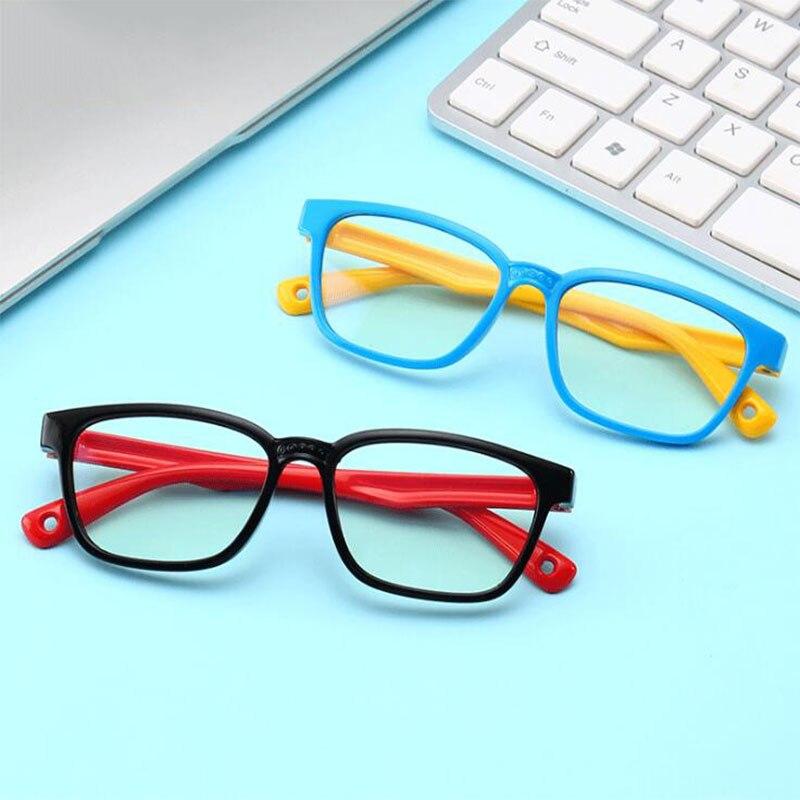 New Baby Anti-blue Light Glasses For Children Soft Frame Goggle Plain Silicone Glasses Kids Eye Fame Eywear Fashion