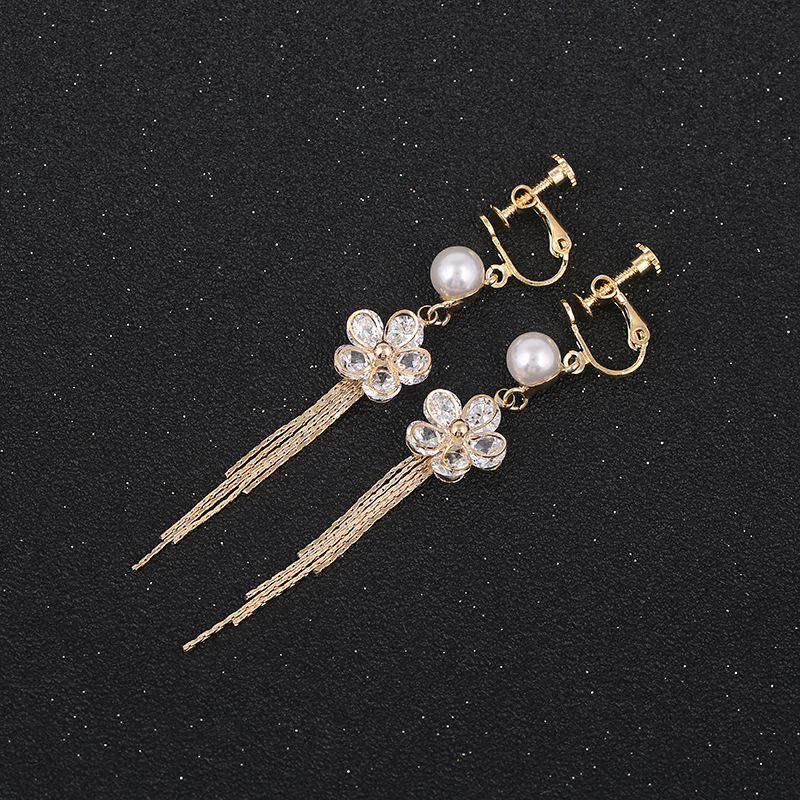 Grace Jun 4 Colors Choose Big Round Aaa Cz Rhinestone Clip On Earring No Pierced Party Wedding Charm Neednt Ear Hole Earrings Novel Design; In