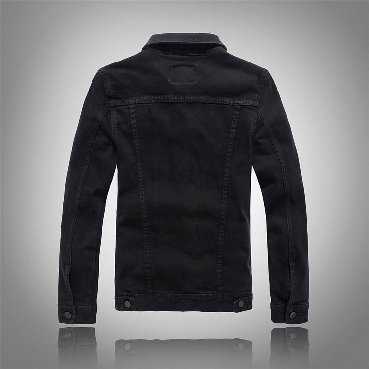 Mees brändi moe denim jope mantel taskud mootorratta denim jope - Meeste riided - Foto 3