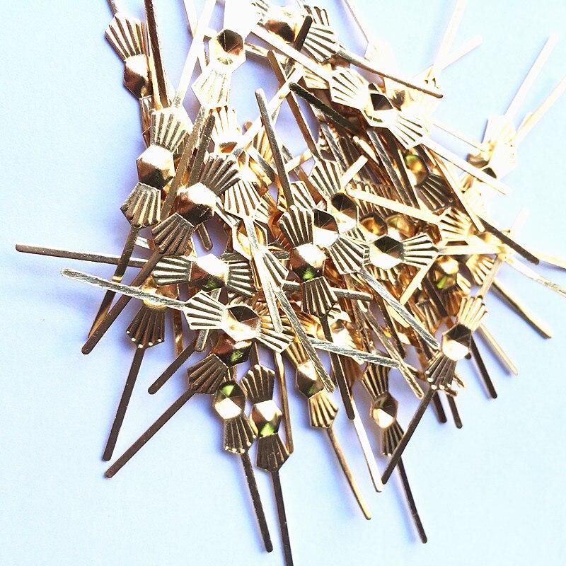 1000 pces l45mm cromo ouro borboleta fivela