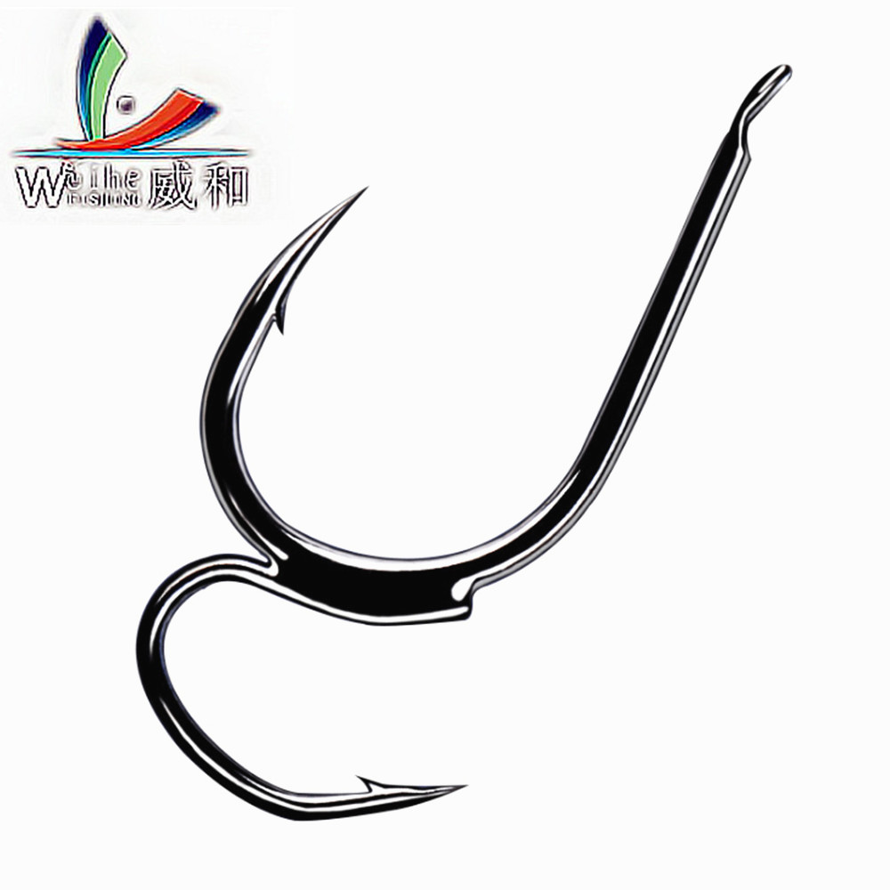 New 10pcs 1package high carbon steel two strength tip for Barbed fishing hook