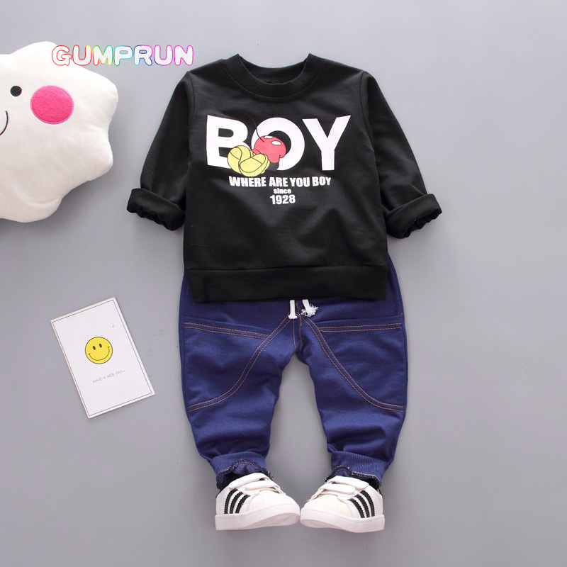 Kids Autumn Clothes Sport Boy Letter Printed boys clothes Long sleeve Children Clothing Set Boys Winter Clothes For Kids kids autumn clothes fashion letter printed boys t shirt set casual children clothing girl winter clothes for kids baby clothing