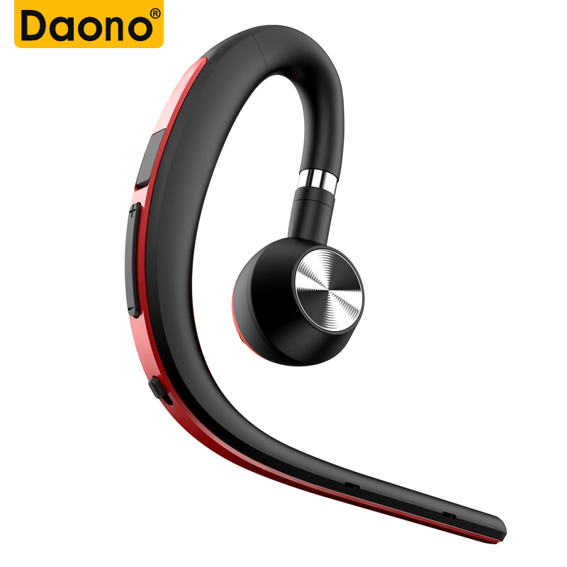 DAONO Bluetooth Wireless Headphone Sport Earhook Handsfree Earphone with Mic Voice Control for Car Driver Mobile Phone