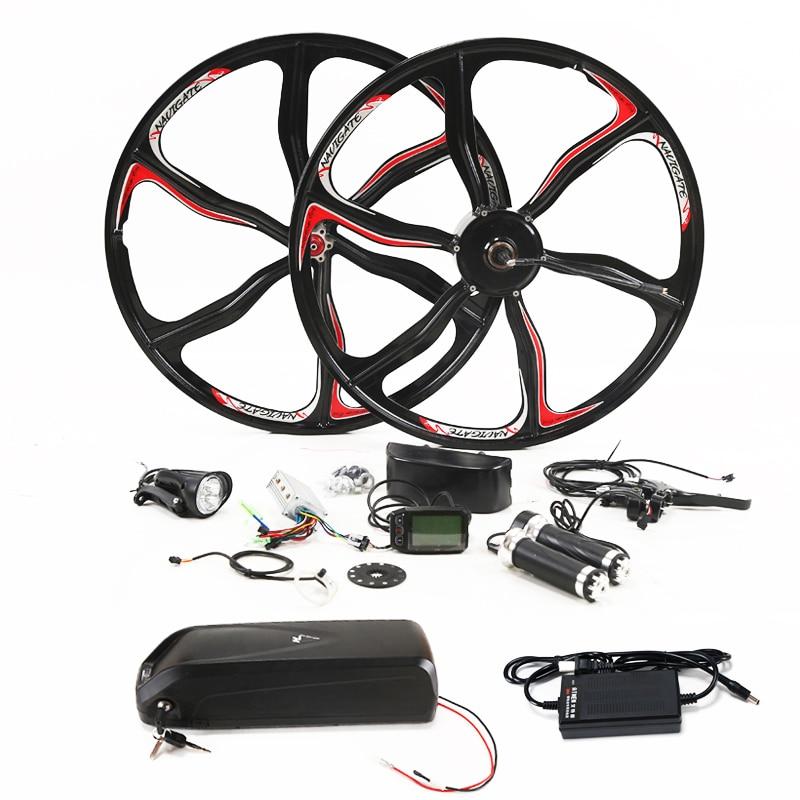 36 V 350 W kit pour 26 pouces roue moteur bouilloire batterie led LCD voiture électrique Ebike e vélo vélo électrique conversion kit
