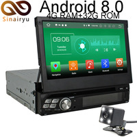 Sinairyu 4G RAM Android 8 0 Car DVD 1 One Din Universal Octa Core 32G ROM