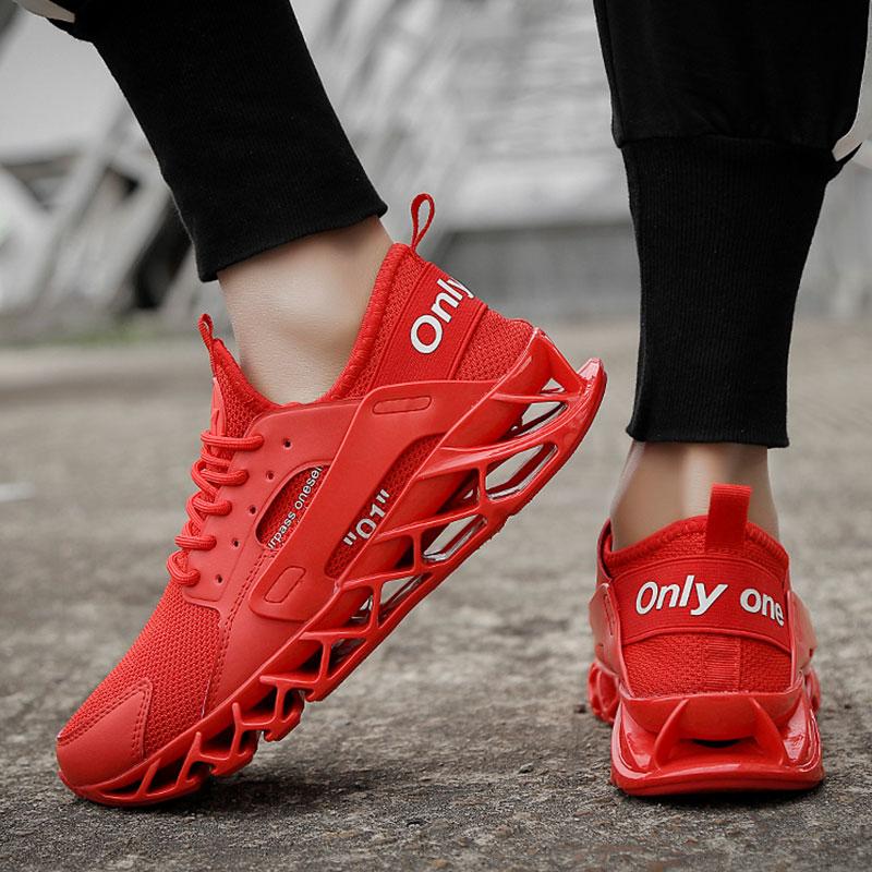SUROM Primavera Tênis Respirável Esporte Bounce Homens Tênis Ao Ar Livre Verão Sapatos de Formação Profissional Sapatos Plus Size 47