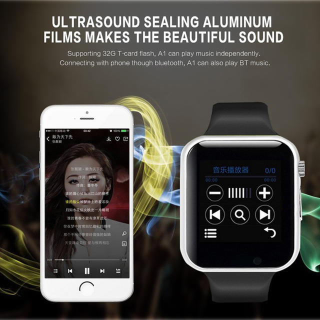 Smart Watch A1 for children men women android Bluetooth Smartwatch With camera Support call music Photography SIM TF card & DZ0 4