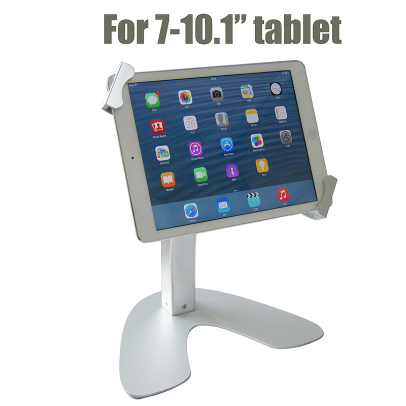 Tablet security stand metal tablet display Samsung tablet lock holder frame desktop brace bracket with keys for 7-10.1