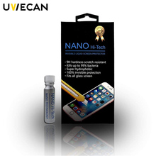 High definition Anti-Scratch Fit Invisible Nano Tech Liquid Glass Screen Protectors 9H Hardness For iPhone X 8 8P/Curved