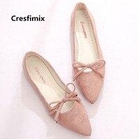 Cresfimix zapatos de mujer женские мягкие удобные розовые слипоны обувь на плоской подошке женская повседневная обувь с острым носком Женская крутая о...