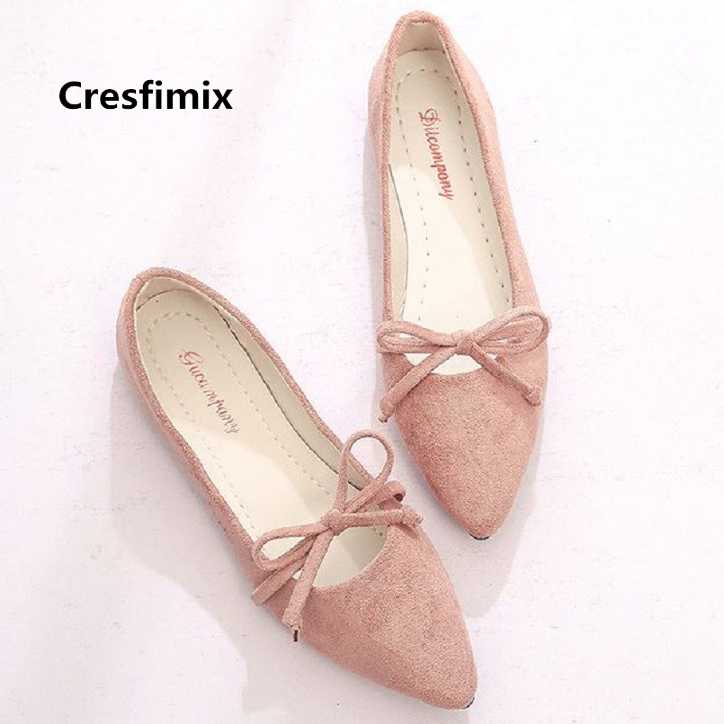 Cresfimix zapatos de mujer women soft comfortable pink slip on flat shoes lady casual pointed toe shoes female cool shoes c2080 cresfimix women casual pu leather slip on flat shoes lady casual white flats female soft and comfortable loafers zapatos