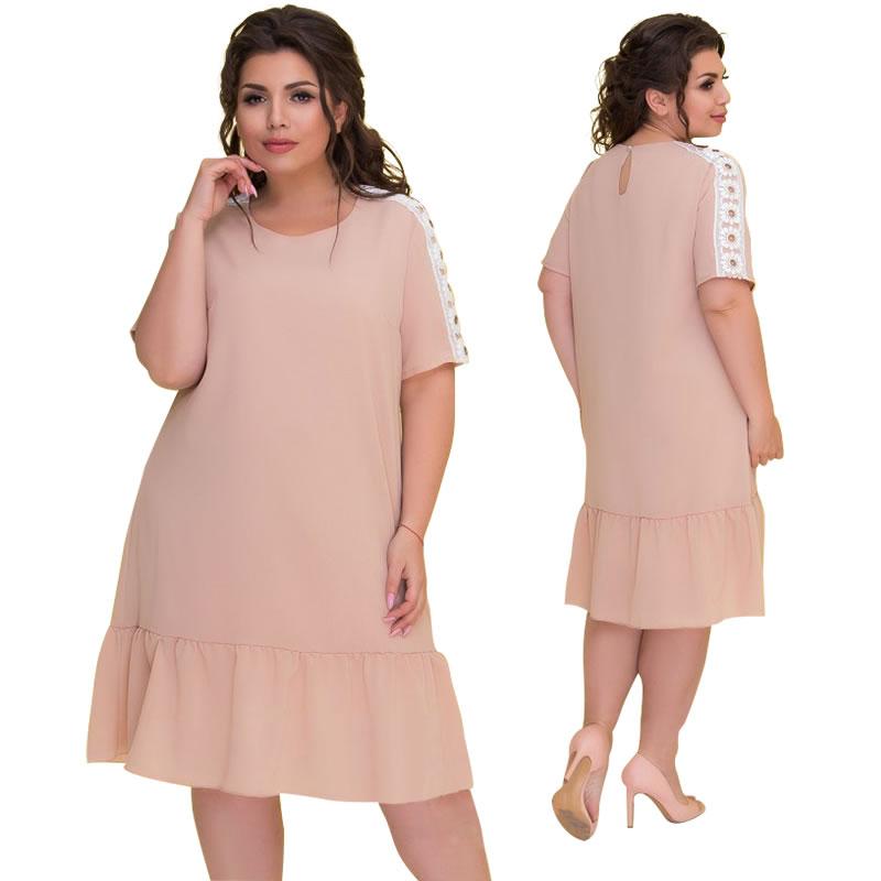 5d26a894d2068 Hot Sale] Big Size Autumn Bottom Dress 2018 New Thin XXXL Ladies ...