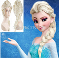 2016 Free shipping popular cartoon girl Hair Wigs children Cosplay Wigs Elsa / Anna princess white fluffy long hair