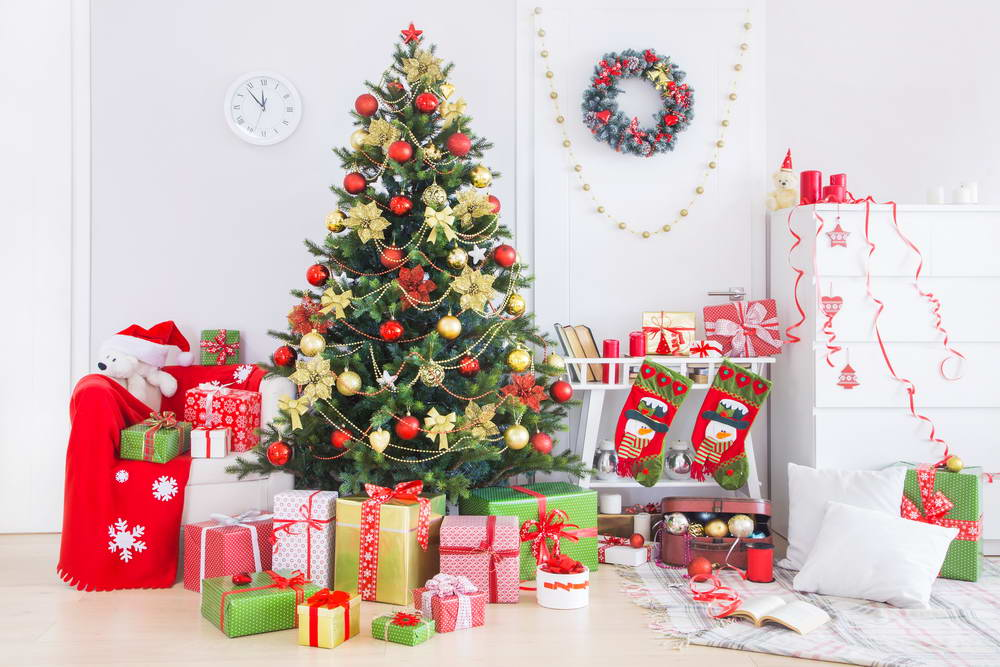 Christmas Background Portrait.Us 10 72 35 Off New Fotografia Christmas Background Fabric Red Wall And Chrismas Tree Photography Backdrop For Kids Portrait Photo Studio In