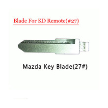 Free shipping (10 pcs/lot)Metal Blank Uncut Flip KD Remote Key Blade Type #27 for Mazda