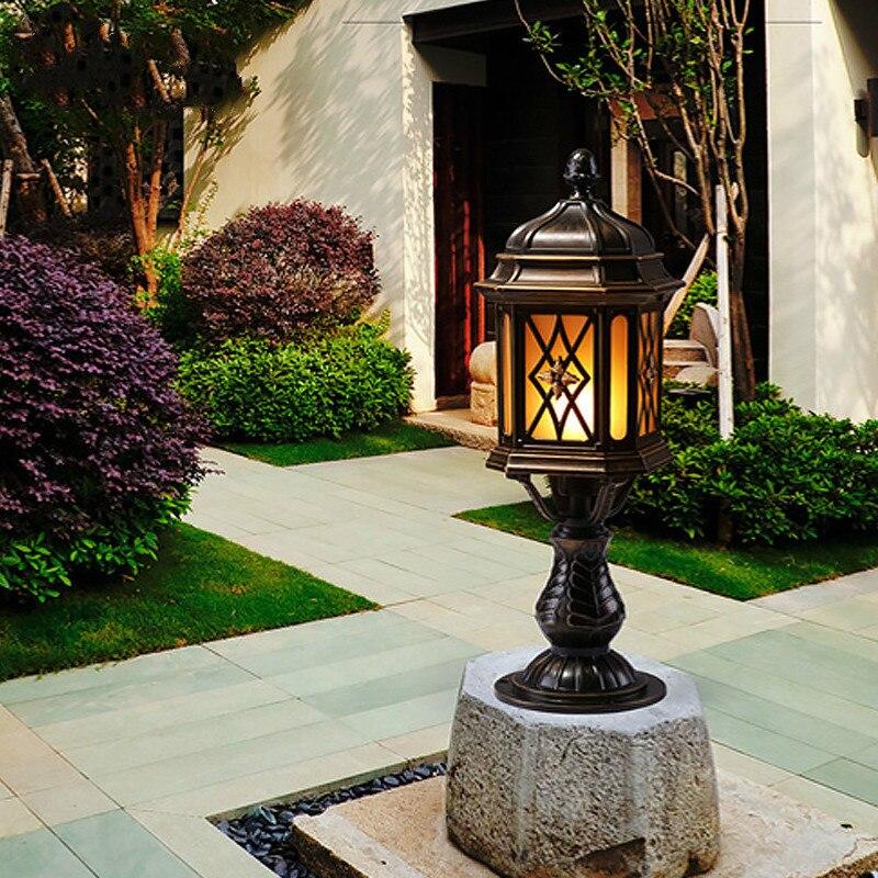 Lampe de colonne extérieure étanche classique européenne lampe murale villa paysage lumière jardin jardin éclairage LU810918