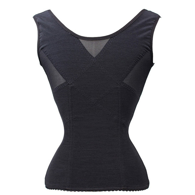 NEFUTRY Women Breathable Slimming Shaper Waist Trainer Corsets and Bustiers Corselet Sexy Lace Corset Top Vest Shapewear