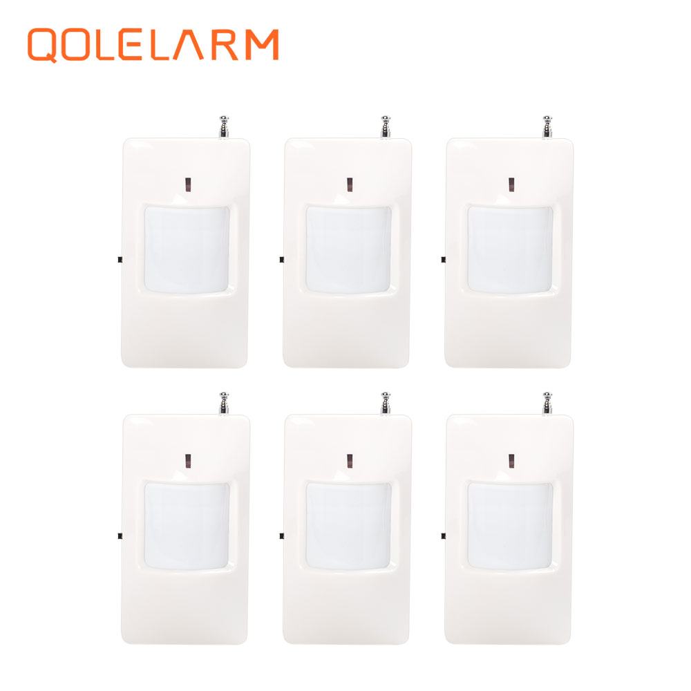 6pcs/lot 433 MHz wireless infrared sensor with battery for home security PIR motion detector WiFi gsm sms pstn alarm system biaoka automatical mechanical watches men luxury brand male clock leather wristwatch men skeleton casual business gold watch